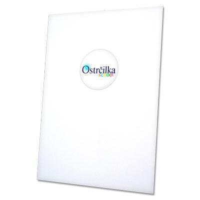 složka Standard – bílá křída – bianco / s etiketou
