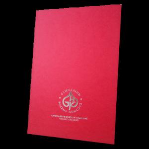 složka Lux – 3 klopy – červený strukturovaný papír