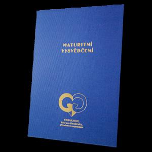 složka Lux – 3 klopy – modrý strukturovaný papír