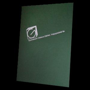 složka Standard – 2 klopy – zelený strukturovaný papír