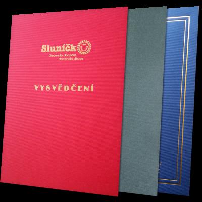 složka Standard – barevná strukturovaná s klopou a možností termoražby
