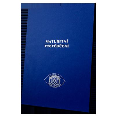 složka Standard – 2 klopy – modrý strukturovaný papír