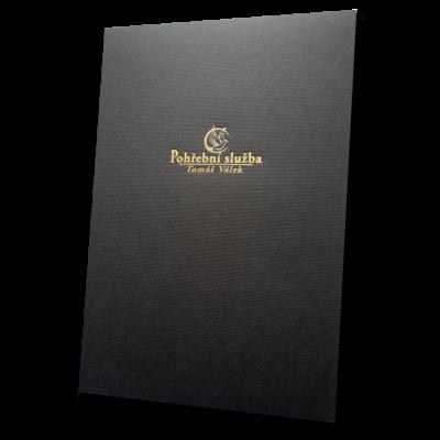 složka Standard – 2 klopy – černý strukturovaný papír