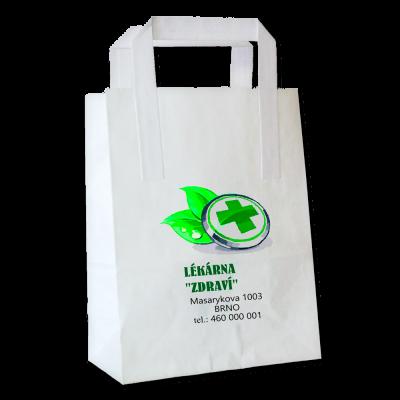 Papírová ekologická taška s možností potisku – odběr 1000 a více kusů