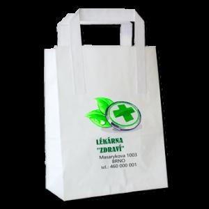 Papírová ekologická taška – ploché ucho – možnost potisku