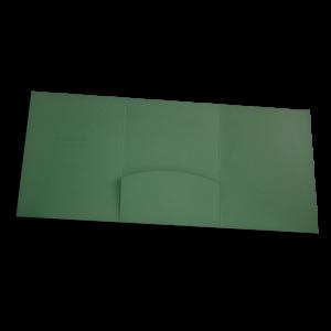 složka Lux – 3 klopy – zelený strukturovaný papír