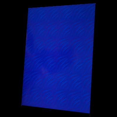 složka Standard – potištěná modrá – vzor vlna