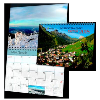 Kalendář ZTN1 měsíční (výroba z dat klienta)