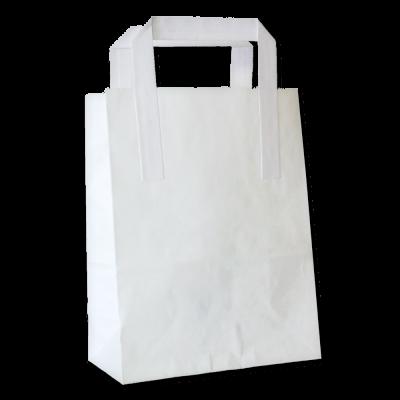 Papírová ekologická taška – bílá bez potisku