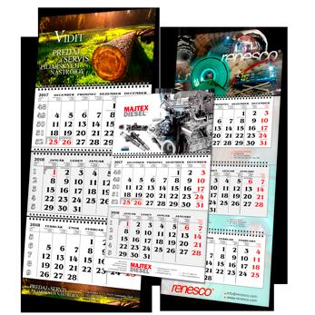 Firemní kalendáře tříměsíční 2021