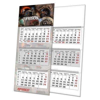 Kalendář L3 s potiskem (tříměsíční)