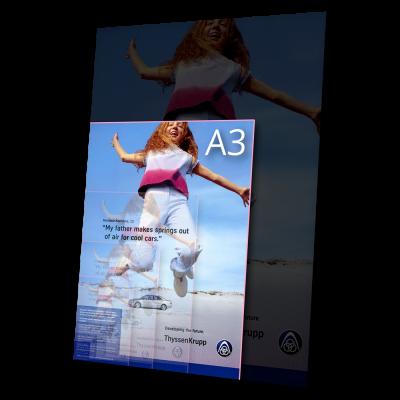 tisk formátu  A3/SRA3 (450×320) – 4/0