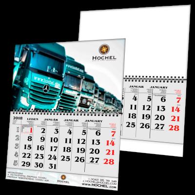Kalendář S1 s potiskem (měsíční)