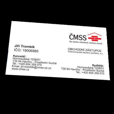 Vizitky – křídový papír 400 g/m2