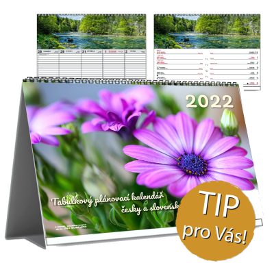 ZELENÝ PROGRAM – Panoramatický stolní pracovní BYLINKOVÝ kalendář
